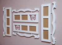 Biała Galeria ścienna ornament