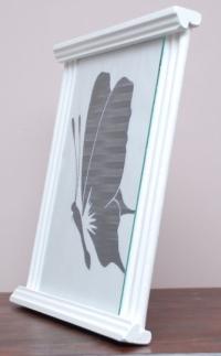 Biała ramka na zdjęcie a4