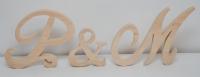 litery napis drewniany inicjały ślubne
