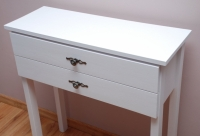 Biała konsola 2 szuflady (jedna nad drugą)