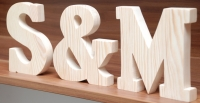 LITERY drewniane inicjały ślubne pomalowane