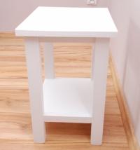 taboret biały z półką