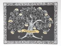 Drzewo genealogiczne w ramie srebne