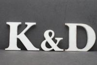 Komplet  15 cm Pomalowanych liter ( 3 sztuki )