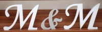 Komplet  20 cm Pomalowanych liter ( 3 sztuki )