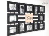 Czarna galeria z typografią 12 zdj.