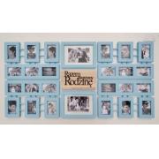 Multirama Galeria Ścienna drewniane ramki na zdjęcia szer. 145 cm
