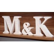 Litery drewniane Inicjały ślubne ślub wesele napis