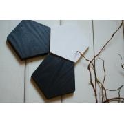Drewniane podkładki Black & White