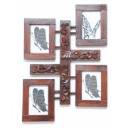 Ramka-Ornament  gipsowy wisząca na 4 zdjęcia -klasyczna-