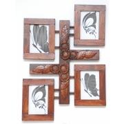 Ramka-Ornament  gipsowy wisząca na 4 zdjęcia -słoneczniki-