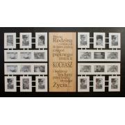 Galeria Ścienna Multirama biała typografia 24 zdjęcia