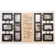 Galeria Ścienna Multirama czarna typografia 12 zdjęć