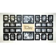 Czarna galeria z typografią