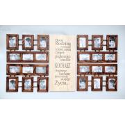 Galeria Ścienna Multirama Brązowa na 24 zdjęcia