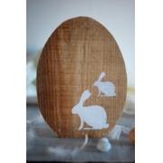 Duże drewniane jajko