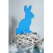 Niebieski króliczek w kropki
